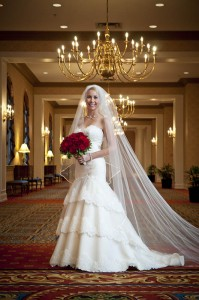 indoor bride portrait Dearborn Inn