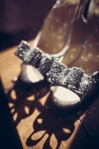 Bride's sparkle shoes