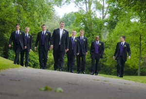 Groomsmen at Depot Park