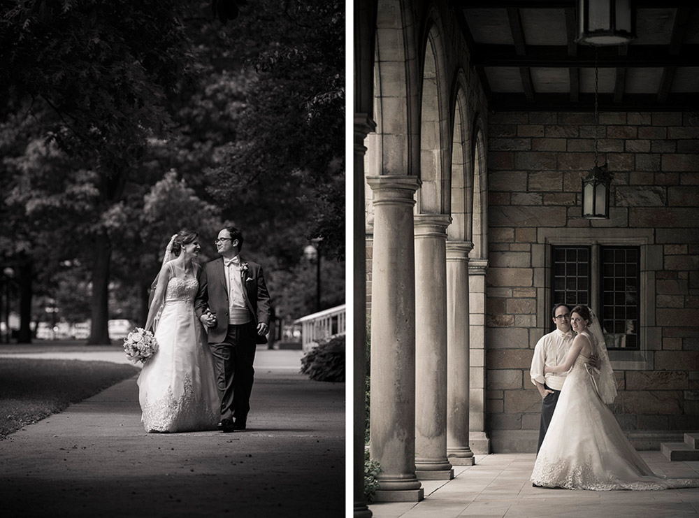 Bride and Groom at the Law Quad, Ann Arbor