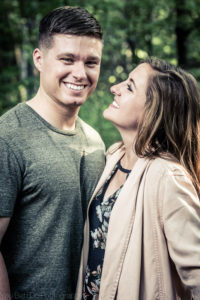 engagement photos at the park